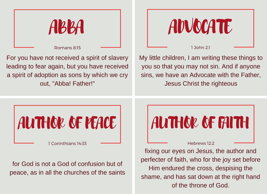 This is a photo of Playful Free Printable Names of God